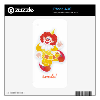 funny yellow clown iPhone 4S decal