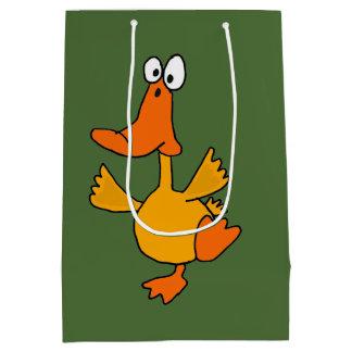 Funny Yellow Dancing Duck Gift Bag