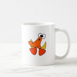 Funny Yellow Duck Cartoon Coffee Mug