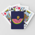 Funny Yellow Duck Eating Watermelon Card Deck