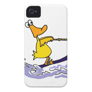 Funny Yellow Duck Water Skiing Case-Mate iPhone 4 Case