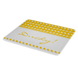 Funny yellow ducky cutting board