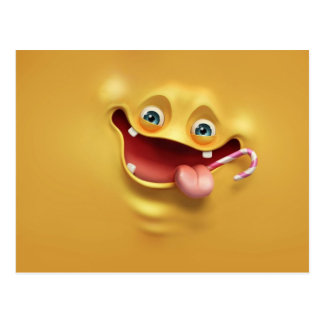Funny Yellow Face Postcard