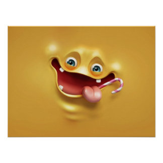 Funny Yellow Face Posters