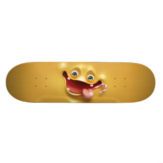 Funny Yellow Face Skateboard