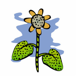 Funny Yellow Flower Magnet