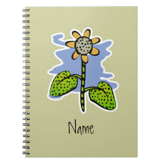 Funny Yellow Flower Notebook