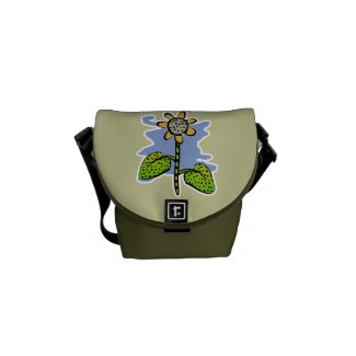 Funny Yellow Flower Small Messenger Bag