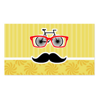 Funny Yellow Hipster Business Cards