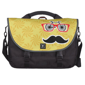Funny Yellow Hipster Laptop Bag