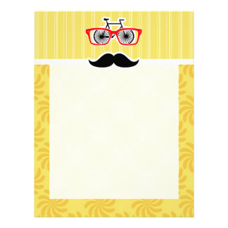 Funny Yellow Hipster Customized Letterhead