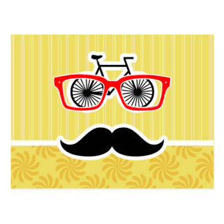 Funny Yellow Hipster Postcard