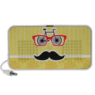 Funny Yellow Hipster Speaker