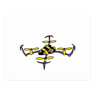 Funny Yellow Jacket Drone Bee Design Postcard