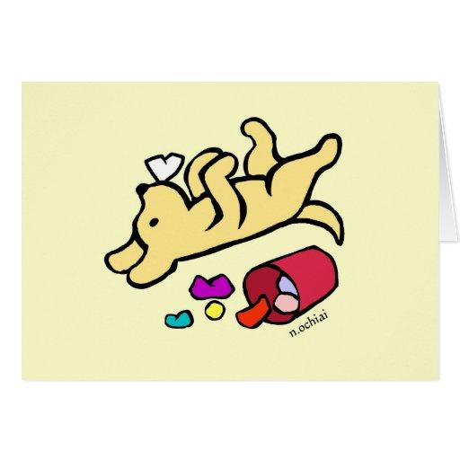 Funny Yellow Labrador Cartoon Cards