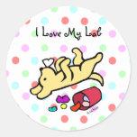 Funny Yellow Labrador Cartoon Sticker