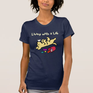 Funny Yellow Labrador Cartoon Tee Shirts