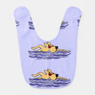 Funny Yellow Labrador Dog Swimming Bib