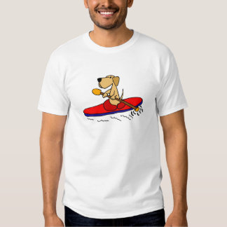 Funny Yellow Labrador Retriever Kayaking T-Shirt
