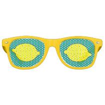 Funny yellow lemon fruit party shades sunglasses