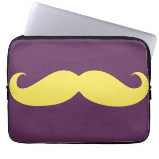 Funny Yellow Mustache Laptop Sleeve
