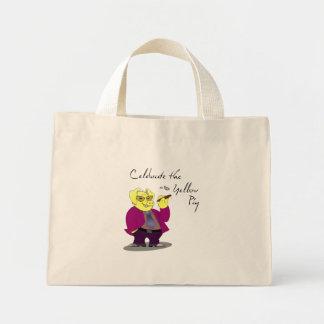 Funny Yellow Pig Bag
