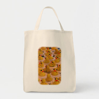 Funny Yellow Rubber Ducks Tote Bag