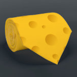 """Funny yellow swiss cheese novelty party neck tie<br><div class=""""desc"""">Funny yellow swiss cheese novelty party neck tie. Fun costume props for men and women. Humorous accessories for Halloween,  wedding party,  bachelorette,  Birthday,  office party etc. Cheese lover gift idea.</div>"""