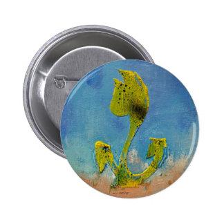 Funny Yellow Tulip Pinback Button