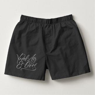 Funny Yodeling Underwear Black Boxers - Yodel
