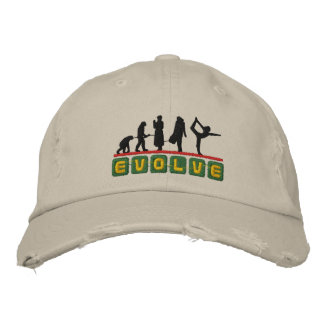Funny Yoga Evolve Embroidered Cap