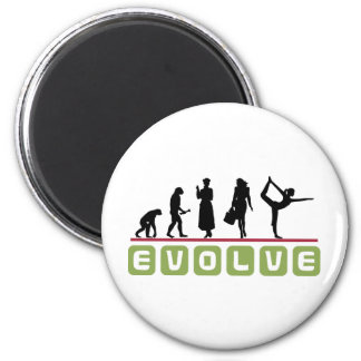 Funny Yoga Gift 2 Inch Round Magnet