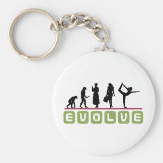 Funny Yoga Gift Basic Round Button Keychain