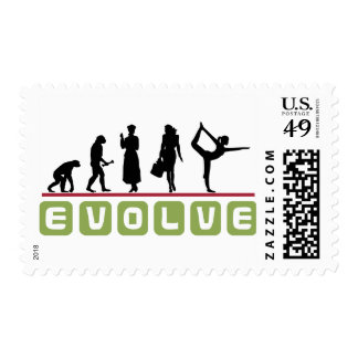 Funny Yoga Gift Postage Stamps