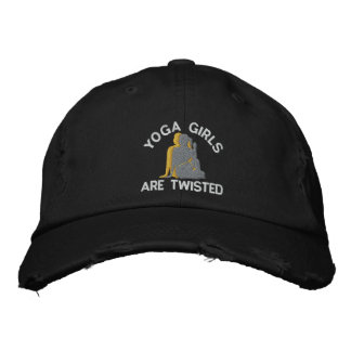 Funny Yoga Girls Are Twisted Embroidered Baseball Cap