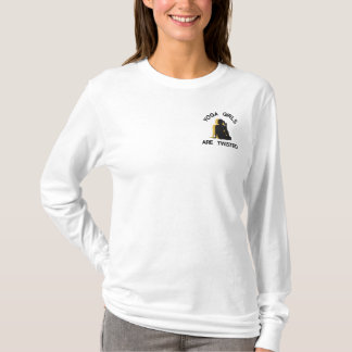 Funny Yoga Girls Are Twisted Embroidered Long Sleeve T-Shirt