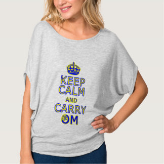 """Funny yoga shirt """"Keep Calm Carry Om"""""""