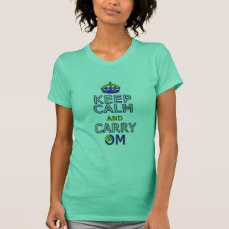 Funny yoga shirt Keep Calm Carry Om