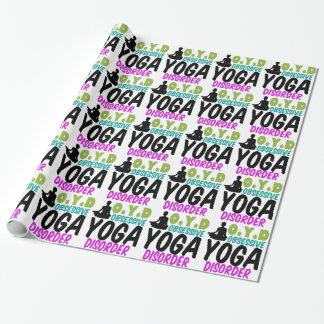 Funny Yoga Gift Wrapping Paper