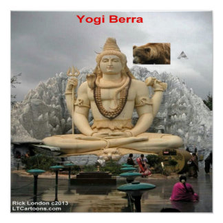 Funny Yogi Deja Vu All Over Again Poster
