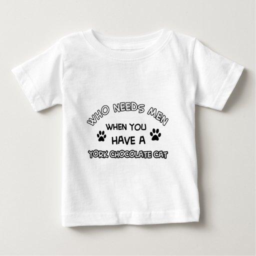 Funny york chocolate cat designs baby T-Shirt