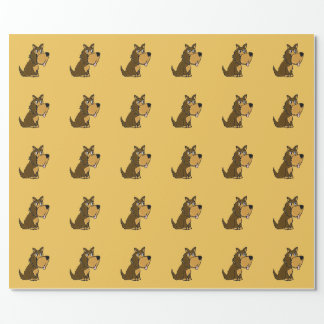 Funny Yorkie Dog Cartoon Wrapping Paper