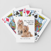 Funny Yorkie Playing Cards