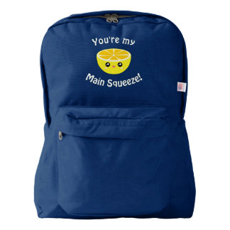 Funny You Are My Main Squeeze Kawaii Lemon Humor Backpack