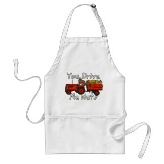 Funny You Drive Me Nuts Squirrel Pun Adult Apron
