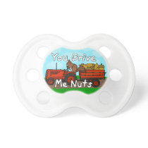 Funny You Drive Me Nuts Squirrel Pun Pacifier