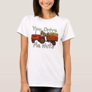 Funny You Drive Me Nuts Squirrel Pun T-Shirt