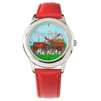 Funny You Drive Me Nuts Squirrel Pun Wrist Watch