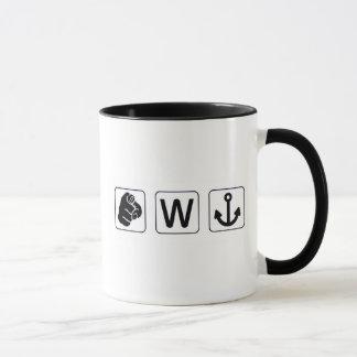 Funny You W Anchor Mug