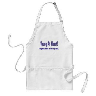 Funny Young At Heart T-shirts Gifts Adult Apron